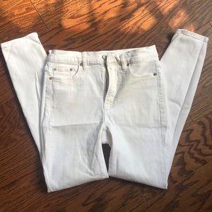 J crew skinny white denim size 27